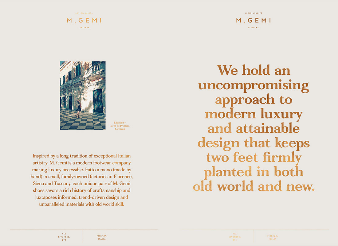 M. Gemi – Branding & Collateral